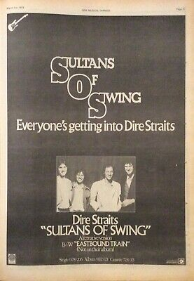 Dire Straits - Original Press Poster Advert - Sultans Of Swing - 3/03/1979