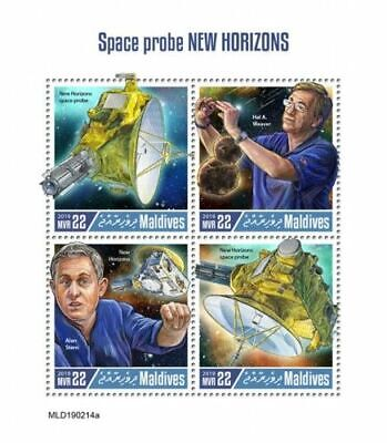 Z08 IMPERF MLD190214a MALDIVES 2019 Space Probe New Horizons MNH