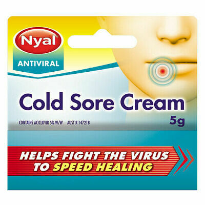 NEW Nyal Antiviral Cold Sore Cream - 5g - Free Postage