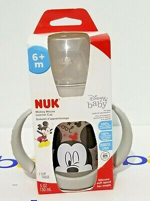 NUK Disney Learner Sippy Cup, Mickey Mouse, 5oz 1pk 5 Ounce (Pack of 1)