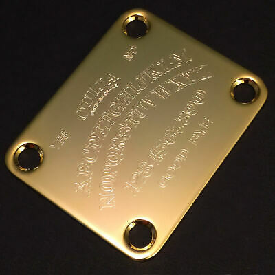 GUITAR NECK PLATE Custom Engraved Etched - OUIJA BOARD - GOLD