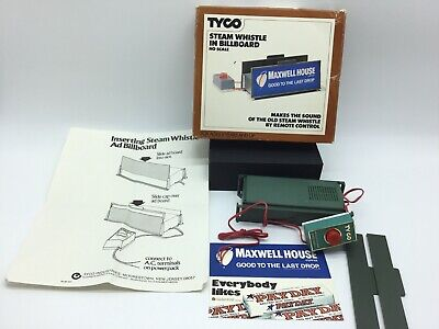 TYCO STEAM WHISTLE In Billboard Ho Scale - Remote Control - $19 00