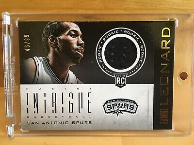 2012-13 Panini Intrigue Kawhi Leonard Rookie Jersey #/99 Rc Sp Raptors