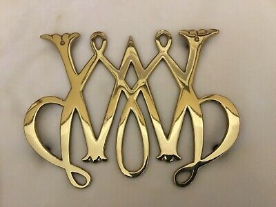 Virginia Metalcrafters Colonial Williamsburg Cw10-11 William &Mary Brass Trivet