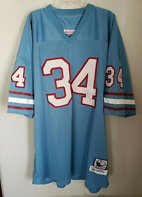 the best attitude 64b34 862ac NWOT HOUSTON OILERS Mitchell & Ness Earl Campbell #34 ...