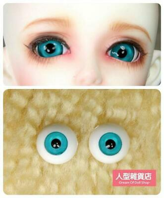 Doll acrylic eyes 10 mm 1 pair Gray with lashes for msn dollfie craft toy