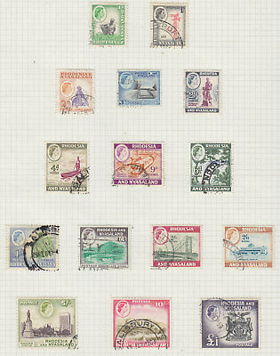 Rhodesia and Nyasaland 1959 set fine used, will be removed from page.