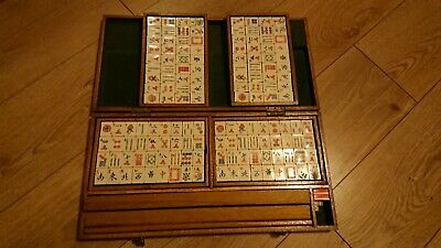 VINTAGE MAHJONG GAME Chad Valley with Score Card and
