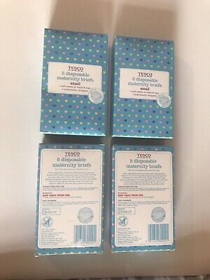 New 20 Piece Disposable Maternity Briefs S 10/12 Hospital Knicker 4 Boxes Tesco
