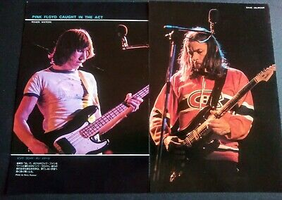 Pink Floyd Roger Waters Dave Gilmour 2 Page Vintage Japan Pin Up