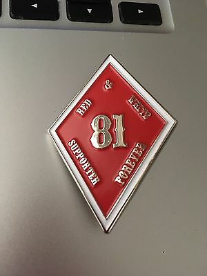 SUPPORT 81 NOMADS RED&WHITE FOREVER vest/jacket/81 Patch