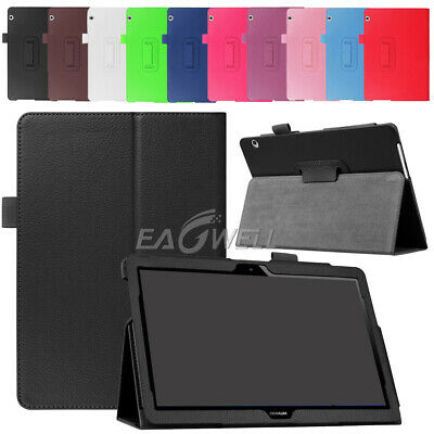 """For Huawei MediaPad T5 10 10.1"""" inch Tablet Thin Folio Leather Stand Cover Case"""