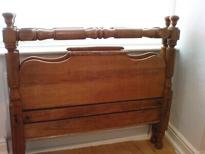 COUNTRY HOUSE QUALITY: Beautiful Victorian matching wooden bed ends