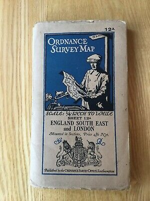 1931 Ordnance Survey Quarter Inch 3rd Edn Map 12a England South East And London