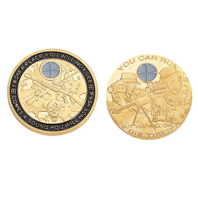Gold Soldier Sniper Anonymous Mint Bitcoin Commemorative Coins Collections Arts