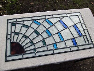 Newly crafted Traditional Stained Glass Window Panel 828mm by 439mm SUNBURST