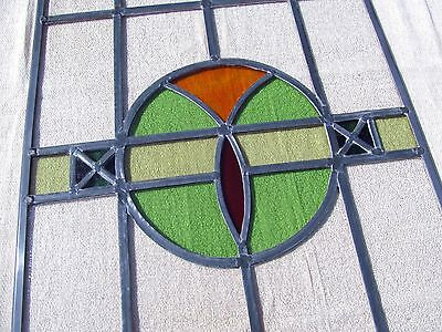 """FULLY RESTORED Original cc1936 STAINED GLASS WINDOW PANEL Approx 17"""" by 45"""""""