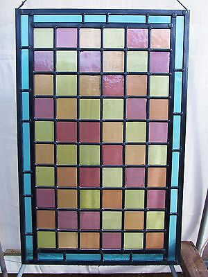 NEWLY CRAFTED Traditional STAINED GLASS WINDOW PANEL (Victorian Glass) 600x388mm
