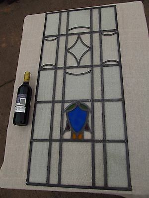 Fully Restored UNIQUE Traditional STAINED GLASS WINDOW PANEL 457mm by 1022mm