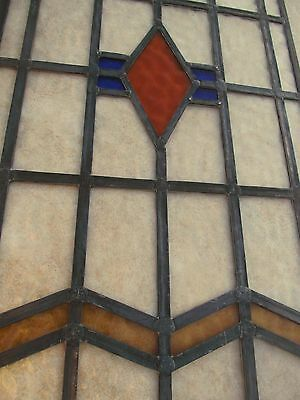 "Fully Restored 2 PIECE Original EDWARDIAN STAINED GLASS WINDOW PANEL 17"" Width"