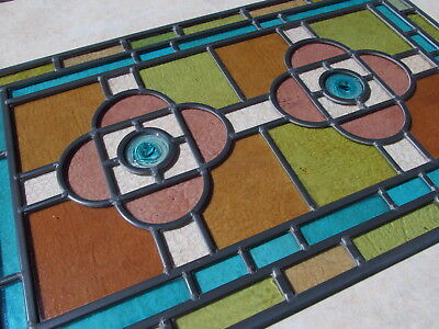 Newly Crafted TRADITIONAL STAINED GLASS WINDOW PANEL Victorian glass and design