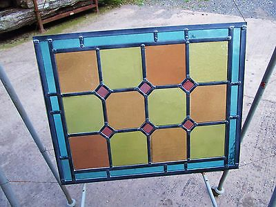 NEWLY CRAFTED Traditional STAINED GLASS WINDOW PANEL (Vintage Glass) 473 x 371mm