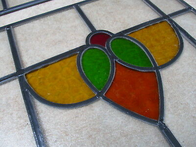 SET of 4 Professionally Restored 1930s Traditional STAINED GLASS WINDOW PANELS