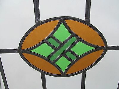 FULLY RESTORED ORIGINAL 1930s STAINED GLASS WINDOW PANEL Copper Hanging Hoops