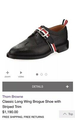 d52519c1da1 THOM BROWNE LEATHER Oxford Shoes Burgundy Calf Plain Red Size 8-12 ...