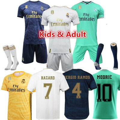 New Kids Football Full Kit Youth Adult Jersey Strips Suit Soccer Training Outfit