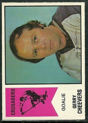 Gerry Cheevers 1974 O-Pee-Chee WHA #30 Gerry Cheevers Cleveland Crusaders OPC