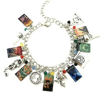 HP Movie Books Magic Wizards Series Assorted Metal Charms Bracelet