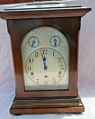 Antique German Kienzle Westminster Chime 8 Day Bracket Clock Gwo Superb Conditio