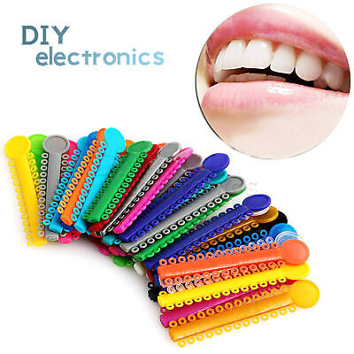 1040pcs Dental Orthodontic Elastic Ligature Ties Rubber Bands ,Bracket Color US