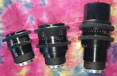 Carl Zeiss Jena PL mount cinemoded full frame lenses 120 180 300 Arri Alexa Red