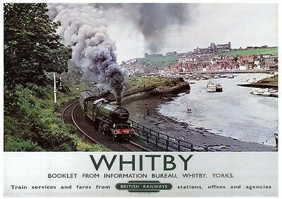 233 Vintage Railway Art Poster - Whitby North Yorkshire