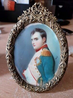 Napoleon.Portrait Spectacular 19th century fine miniature painting
