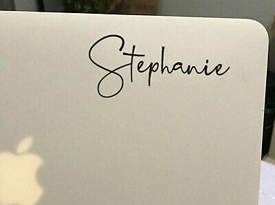 Custom Laptop Name Sticker Decal Mobile Tablet Rose gold Silver Chrome