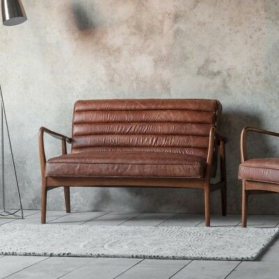 Datsun 2 Seater Sofa Vintage Brown Gallery Direct Mid Century Modern