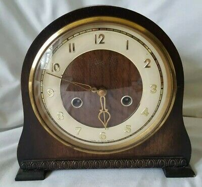 1940's SMITHS ENFIELD WOODEN MANTEL CLOCK
