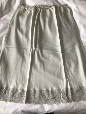 Glossy vintage satin half slip - Pale grey colour - St Michael - UK14-16
