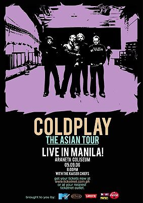 0645 Vintage Music Poster Art - Coldplay Asian Tour