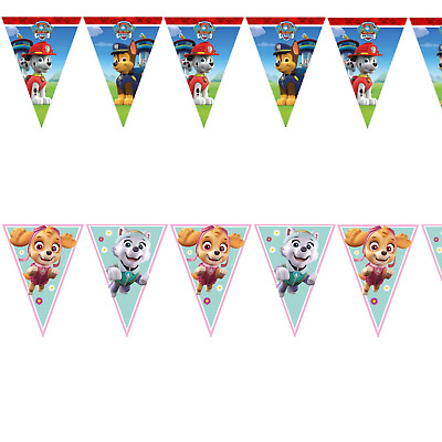 Paw Patrol Flag Banner Bunting Children's Birthday Party Decoration Boys Girls