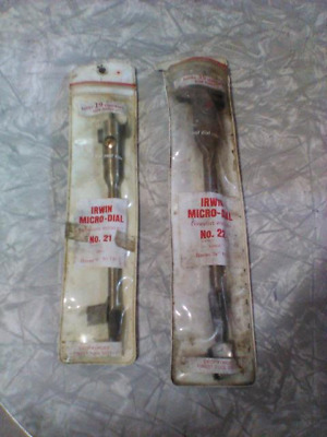 Vintage Irwin # 21 & # 22 Expansive Micro Dial Auger WOOD Bits USA tools drills