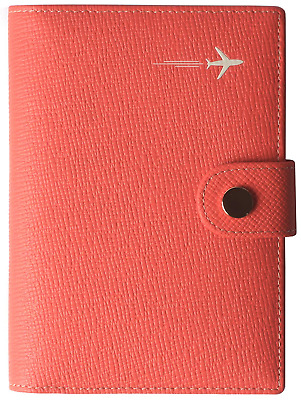 Passport Holder Cover Wallet RFID Blocking Leather Card Case Travel Document Red
