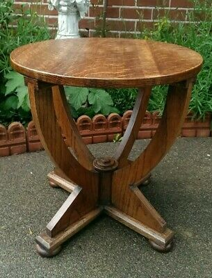 Small Arts & Crafts Style Solid Oak Side or Coffee Table