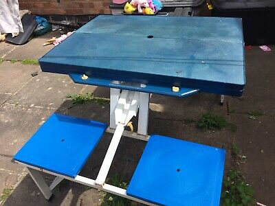 Folding Portable Camping Picnic Party Dining Table With 4 Chairs