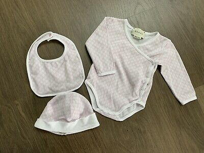 26ff8d839 GUCCI BABY GIRLS BABY GROW 0-3 Months BRAND NEW,DESIGNER,SUIT,VELOUR ...