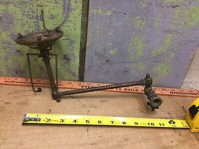 Victorian Brass Gas Light Arm W/ No Shade