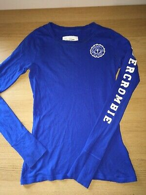 GENUINE Abercrombie and Fitch Top Girls Size S Long Sleeved Blue